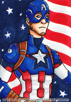 Captain America [Day 1] by sambeawesome