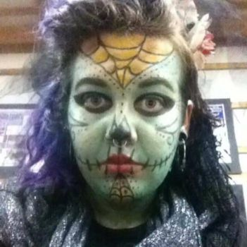 sugar skull halloween costume contest makeup 2015 by synth3tixx