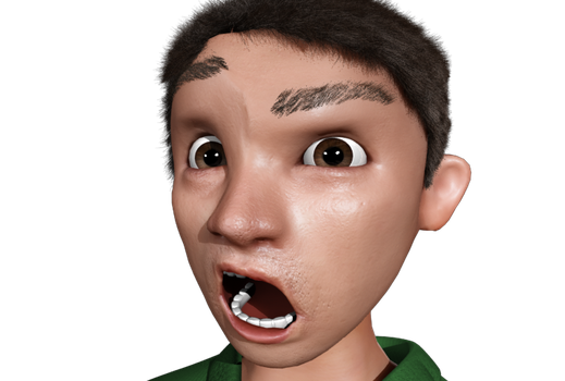 Test Render Face by aquietfrog