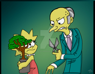 Lisa and Mr Burns by The-Gatherring