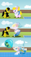 Puffy Pokesuits by BladeDragoon7575