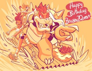Bowser2Queen HB!!!! by ChicaG