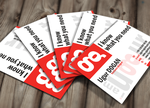 Red-White Business Card by Mottcalem