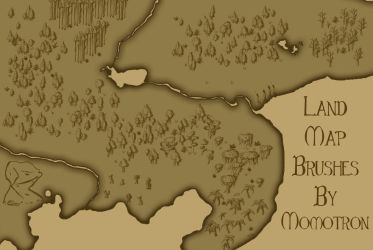 Momotron81 Land Map Brushes by Momotron81