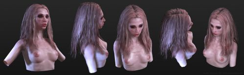 Female Vampire Bust before by screenlicker