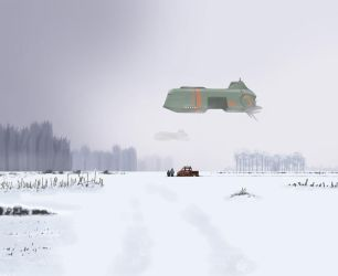Ships in the Winter by On-A-Boat