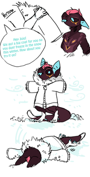Jo gets a coat by Rogue-Incubi