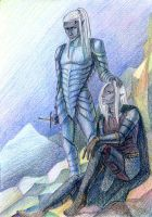 Zaknafein an Drizzt Do'Urden. by MonkeyDKiba