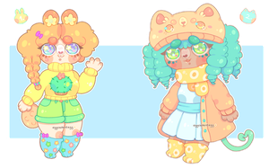 adopts: squishy gals   closed by eggcellentegg