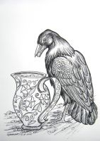 The Crow and the Pitcher by HouseofChabrier