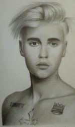 Drawing Justin Bieber by cdudley25