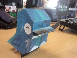 Nanibird Corvis Papercraft by Merengil