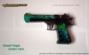 Crossfire Deagle Green Vein Papercraft 1 +DOWNLOAD by svanced