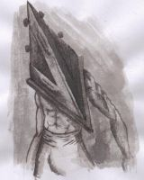 pyramid head ink by TheCreamPuff