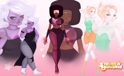 The Crystal Gems by BabyButta