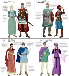 Early Orlesian Fashion - Divine and Glory Ages by RuBecSo