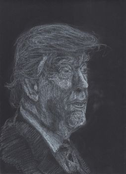 Trump Charcoal Drawing by joshthecartoonguy