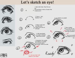 How to sketch an eye by DariaCerberus