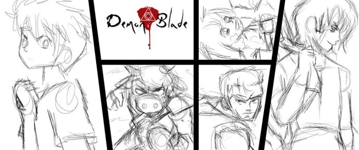 Demon Blade Issue 5 to 7 preview WIP by Imbriaart