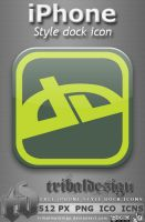 iPhone style deviantART icon by KillboxGraphics