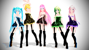 TDA Vocaloid Girls Pack Download!! by KiiroKitsune99