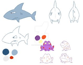3rd year film: Shark/Frog models by LetterBomb92