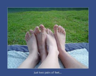 just two pairs of feet... by poppyflower