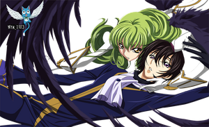Code Geass Lelouch and CC by Myk-2103