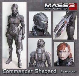 Shepard Papercraft Download by Avrin-ART