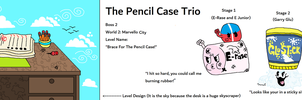 Lil Inksquirt and Axehead - The Pencil Case Trio by CheesySquidSandwich