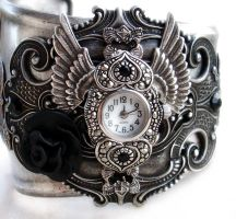 Steampunk - Gothic Cuff Watch by Aranwen