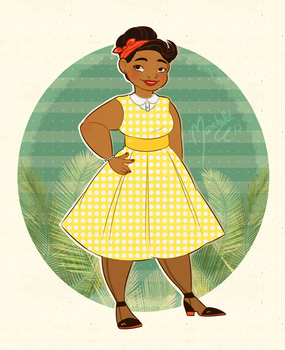My mum comes from the 50's by Marshellle