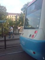 Sight behind tram by wellgraphic
