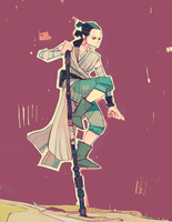 Rey-a-Day 93 balance to the force by michaelfirman