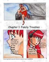 Dream Angel comic page 2 - hand rendered by OceanGoddess13