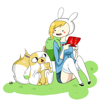 fionna and cake play 3ds! by Mizvongola