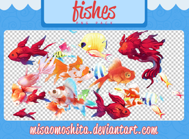 Fishes - Pescaditos Png Pack by MisaoMoshita