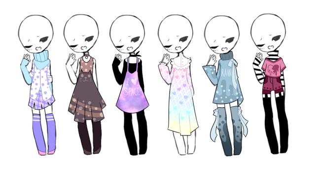 SP Outfit Adopts (4/6 OPEN) by ImaginationTrap