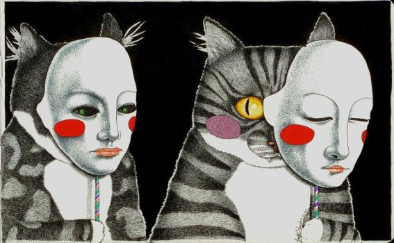 Don't trust a cat with a mask by LadyOrlandoArt