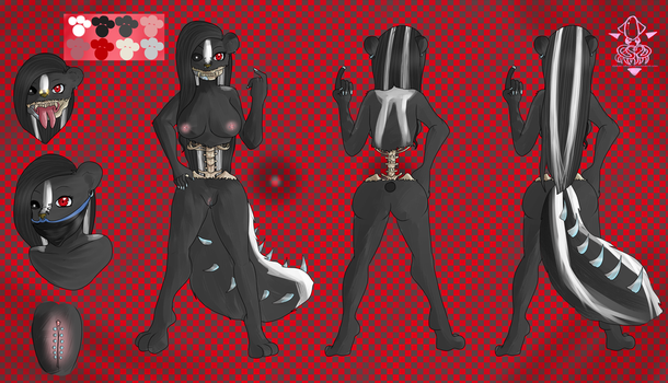 Commission: Skunk Litch Character Sheet by Gokai-Chibi