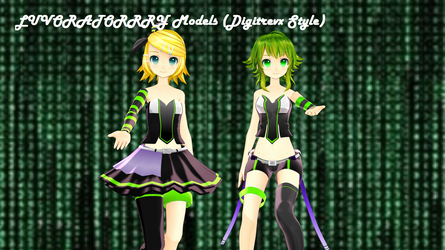 [MMD DL] Digitrevx LUVORATORRRY Pack by FreezyChanMMD