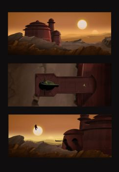 Screenshots Taken from my Boba Fett Animated short by Jason-Venus