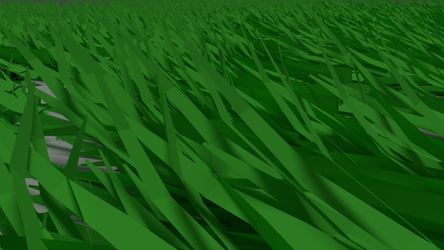 First attempt at grass in Blender by dexter-roderick