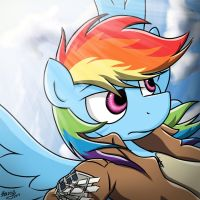 Shingeki no Kyojin: Rainbow Dash by bravelyart