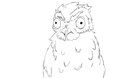 Stupid Angry Potoo by bombblaster89