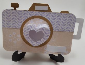 Camera with 3D Heart Lence1 by UniqueDesignsbyMoni by UniqueDesignByMonica