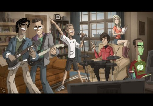 Big Rock Bang Band Theory by OtisFrampton