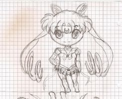 Sketch Eternal Sailor Chibi Moon by MistyQue