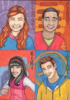 Fresh Beat Band SketchCards by angelacapel