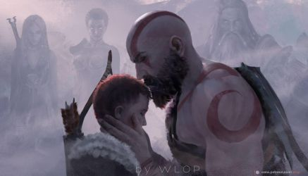 God of war by wlop